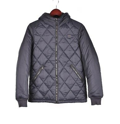 f9890712dd0 G-Star Fibrick Hdd Quilted Hooded Blue Men Puffer Jacket Bomber Size M