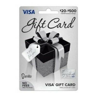 $100 VISA CARD ready to use activated gift no fees FREE SHIPPING