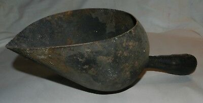 Vintage Hand Made large Metal Scoop - Rustic and Primitive Country Store Style