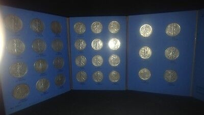 1937 Standing Liberty Silver Half Dollar Collection With 1938D and 37D Are 1935s