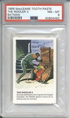 1966 MacLeans Tooth Paste THE RIDDLER 3 - BATMAN PSA 8 NM-MT