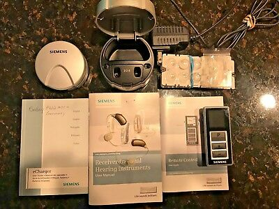 Siemans Pure Carat Xcel Hearing Aids W/charger & Remote