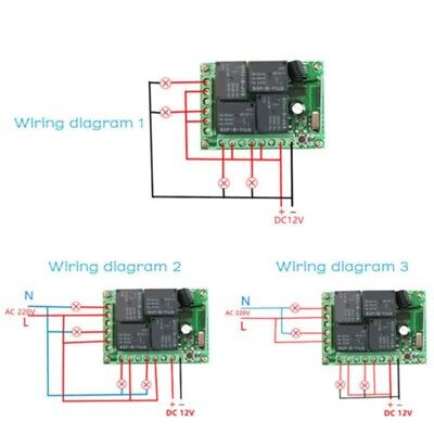 12V 24V SECURE Wireless Rf Remote Control Relay Switch