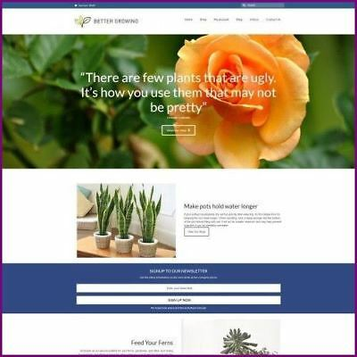 PLANTS - Dropship Website Business For Sale | Commission On Each Sale