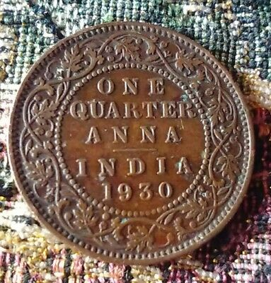 1930 British India 1/4 ANNA - Nice btr cir King George V issue found in Udaipur