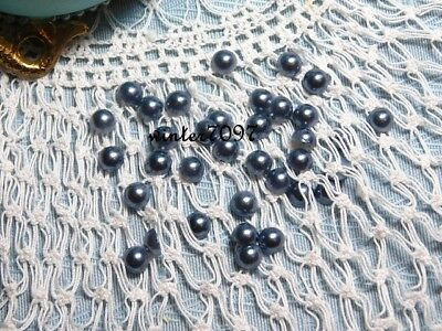 (380)*costume Makers Sellout**flat Backed*pearls*grey*round*new!*