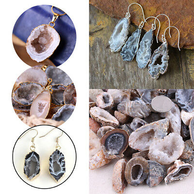 Pure Natural Agate Crystal Loose Beads Gemstone Pendant DIY Jewelry Making Decor