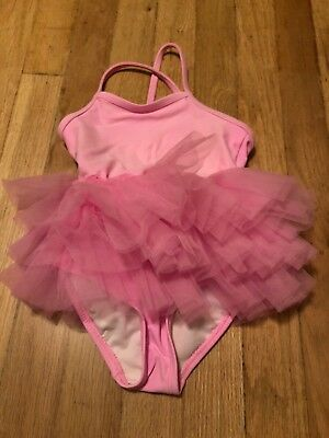 OP Ocean Pacific Toddler Girls Pink Tutu One Piece Swimsuit Size 24 Months