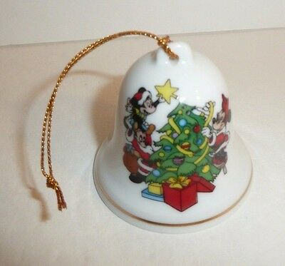 1992 Minnie Mickey Mouse The Disney Collection Bell Holiday Ornament Porcelain