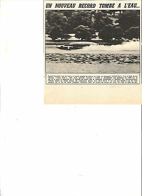 Donald Campbell Bateau Blue Bird Record Monde - 1955 / Article Reportage Presse