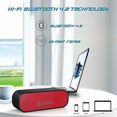 20W Portable Bluetooth Speakers (Two Subwoffers), Water Resistant Off Sale