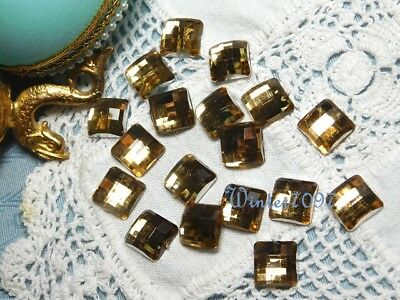 (26)*costume Makers Sellout**flat Back Rhinestones*gold*square*new!*