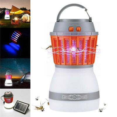 Solar Panel USB Charging Mosquito Killer Lamp LED Light Camping Light Dimmable