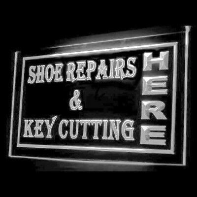 190013 OPEN Shoes Repairs Key Cutting LADIES Leatherworking LED Light Signs