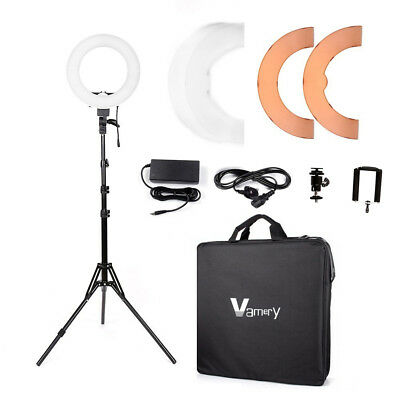 38W Photo Video Make-up Lighting LED Ring Light Camera iPhone Holder 218cm Stand