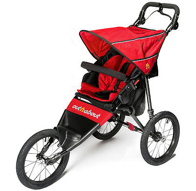 Out n about nipper sport V4 pushchair Carnival red and next working day delivery