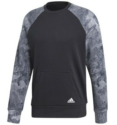 Puma Varsity Camo Cotton Polyester Grey Mens Pullover Sweater 567493 01 R4A