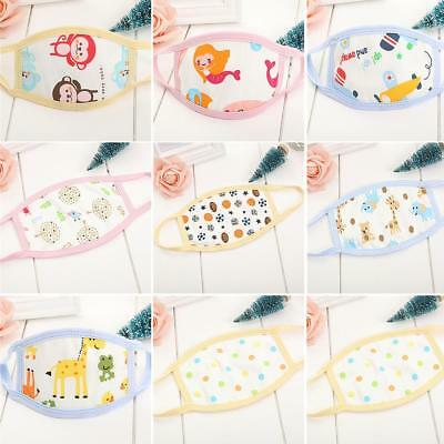 Baby Kid Cotton Mouth-Muffle Face Nose Mask Anti-Dust Cartoon Face Masks