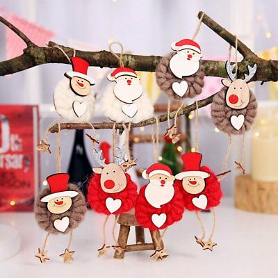 3PCS Christmas Party Hanging Santa Claus Snowman Xmas Ornaments Home Party Decor