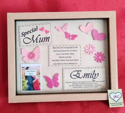 Mother S Day Personalised Photo Frame Birthday Mum Present Gift