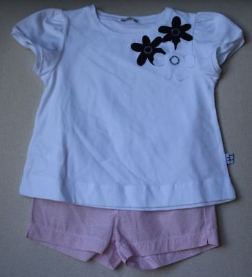 Il Gufo Girls Floral Shorts Set 2 Years