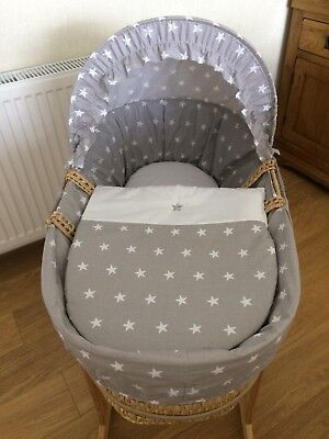 Devoted Clair De Lune Moses Basket With Stand Elegant And Graceful Nursery Furniture Bassinets & Cradles