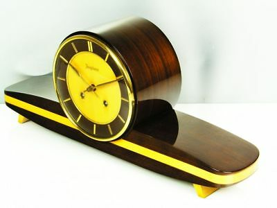 Beautiful Later Art Deco  Chiming Mantel Clock From Junghans With Resonanz