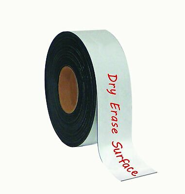 "MasterVision FM2118 Magnetic Dry Erase Surface 2"" x 50' White Tape Roll *New*"