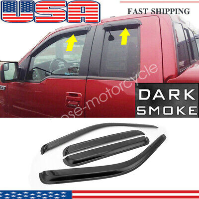 4pcs Vent Window Visor For Ford F-250/F-350 Super-Duty Extended Cab 1999-2012 US