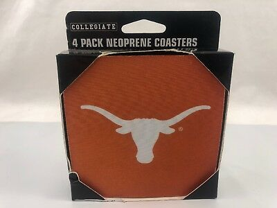 NCAA Texas Long Horns Neoprene  Coasters, 4-Pack NWT