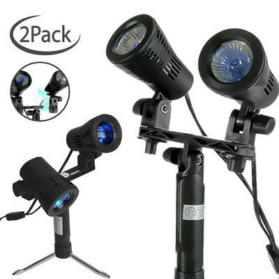 |2-Pack| Double Head Table Top Photography Shooting Lamp Photo Studio Lighting