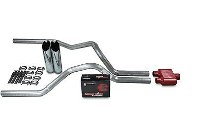 """Ford F150 Truck 15-18 2.5/"""" Dual Exhaust Kits Flowmaster Super 44 Black Tip"""