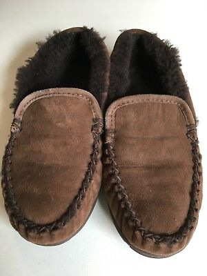 f43d2029032 LL BEAN MEN S Wicked Good Scuffs Moccasins Slippers Shearling Lined ...