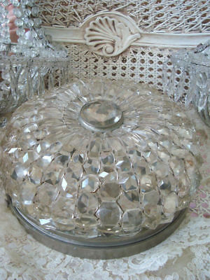 RARE Magnificent Prism Dome Ceiling Fixture Incredible Shabby ***BIG SALE****