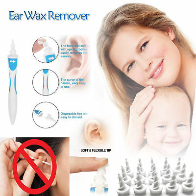 Earwax Removal Soft Spiral Ear Cleaner Smart Multifunctional Swab Removers Set