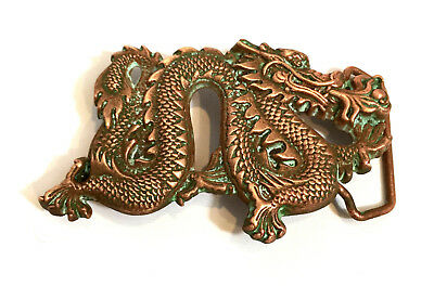 "Vintage Dragon Large (over 4"") Solid Brass 1981 Baron belt buckle FREE SHIPPING"