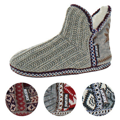 Mukluk Pattern Adraiana Women's Knit Short Sweater Bootie Slippers House Shoes