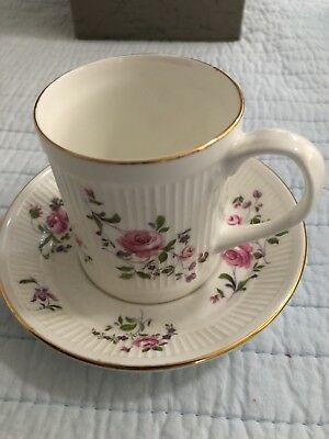 Vintage Crown Staffordshire Fine Bone China Tea Cup and Saucer Floral Boutique