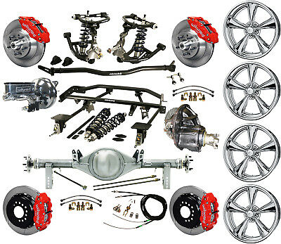 """Ridetech Coilover,4-Link,currie Rear End,17"""" Wheels,wilwood 13"""" Disc Brakes,red"""