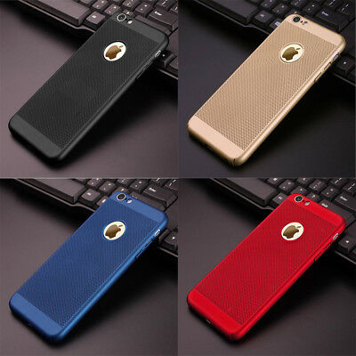For Iphone X/8Plus/7/6 Mobile Hollow Out Phone Heat Cooling Shell Case Cover Pc