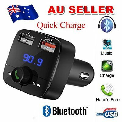 VicTsing Bluetooth FM Transmitter for Car, Wireless Quick USB Charge 3.0 Car Kit