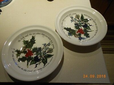 Portmeirion Holly And Ivy Pair Of Soup Bowls - 8.5 Inch