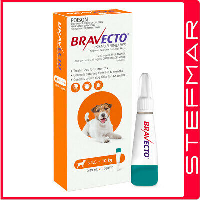 Bravecto Spot-on For Dogs Small 4.5-10kg 1Pk