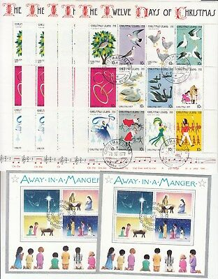 Xmas island: Collection of 16 very fine used Miniature sheets. High retail.Cheap