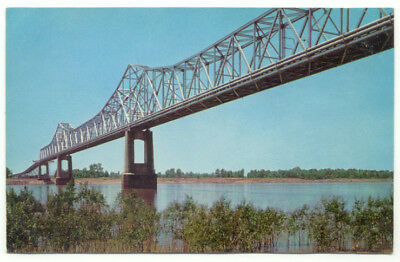 Greenville MS Toll Free Bridge Highway 62 Vintage Postcard - Mississippi River