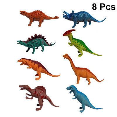 8pcs Toy Dinosaur Rubber Play Figures Children Stuffed Action Figure For Kid NEW