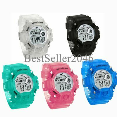 Kids Boys Girls LED Sports Digital Electronic Alarm Wrist Watch Multifunction