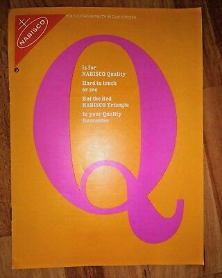 "Rare Vintage ""Q is for Nabisco Quality"" 1968 Ad Brochure Pamphlet **Mint Cond**"