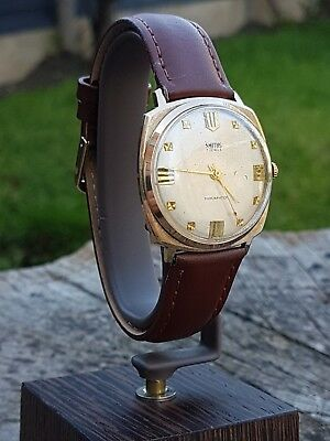 Vintage Watch 1960s Smiths 7 Jewel Shockproof Manual Wind