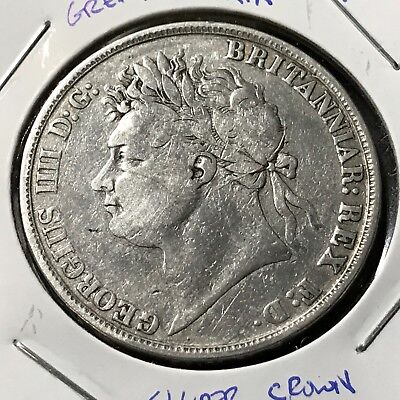 1821 Great Britain Silver Crown Scarce Better Coin